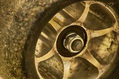 Закройте вверх колеса скейтборда Стоковые Фото
