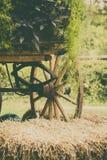 Закройте вверх колеса экипажа outdoors Стоковое Фото