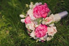 закройте вверх красивого bridal букета Стоковая Фотография