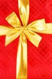 Закройте вверх красной коробки подарка Стоковые Изображения
