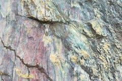 Закройте вверх красочной поверхности утеса, естественной предпосылки, картины и текстуры Toget метаморфического белого кварцита с Стоковое Фото