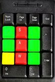 Закройте вверх красочных ключей компьютера Стоковые Фотографии RF