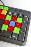 Закройте вверх красочных ключей компьютера Стоковая Фотография RF