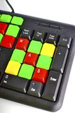 Закройте вверх красочных ключей компьютера Стоковое Фото