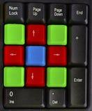 Закройте вверх красочных ключей компьютера Стоковое фото RF