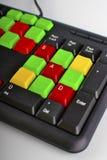 Закройте вверх красочных ключей компьютера Стоковое Изображение