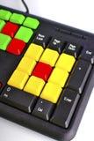 Закройте вверх красочных ключей компьютера Стоковые Фото