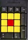 Закройте вверх красочных ключей компьютера Стоковые Изображения RF