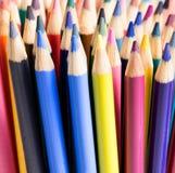 Закройте вверх красочных подсказок карандаша Стоковое Изображение