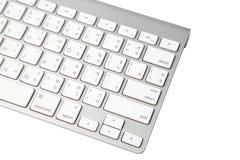 Закройте вверх клавиатуры современной компьтер-книжки стоковое изображение rf