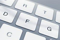 Закройте вверх ключей клавиатуры компьютера Стоковое Изображение RF