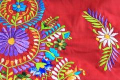 Закройте вверх мексиканского дизайна вышивки Стоковые Фото