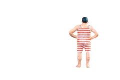 Закройте вверх миниатюрных тучных людей изолированных с путем клиппирования Стоковое Изображение
