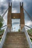 Закройте вверх моста остали кабелем, который стоковые фото