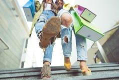 Закройте вверх на ботинке женщины Стоковое Фото