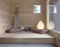Закройте вверх на деревенской живущей комнате Стоковые Изображения