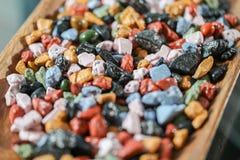 Закройте вверх на много красочных утесов конфеты Стоковое Фото