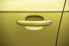Закройте вверх на ручке двери спортивной машины Стоковое Изображение
