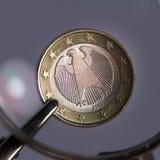 Закройте вверх немецкого евро Стоковая Фотография