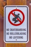 Закройте вверх никакого знака skateboarding в долине Юты стоковая фотография