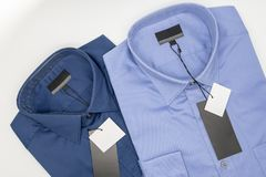 закройте вверх новой рубашки дела для людей Стоковое Изображение