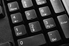 Закройте вверх номера клавиатуры компьютера Стоковая Фотография RF