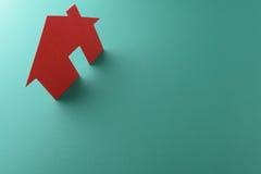 Закройте вверх домов отрезанных из бумаги Стоковые Фотографии RF