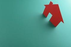 Закройте вверх домов отрезанных из бумаги Стоковая Фотография RF
