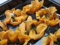 Закройте вверх органических tartlets сыра коз Стоковое Фото