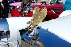 Закройте вверх орнамента клобука автомобиля духа Zimmer золотого Стоковая Фотография