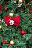 Закройте вверх орнамента рождественской елки Парижа Франции декоративного стоковое изображение rf