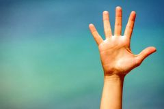 Закройте вверх открытой руки Стоковая Фотография RF