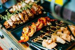 Закройте вверх очень вкусного зажаренного блюда морепродуктов Стоковое Изображение