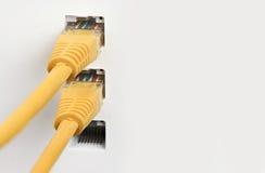 Закройте вверх переключателя сети, кабелей Стоковые Фото