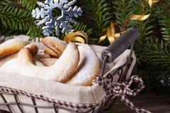 Закройте вверх печений рождества домодельных Стоковые Изображения