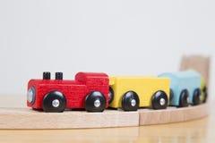 Закройте вверх поезда игрушки Стоковое Изображение