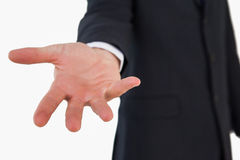 Закройте вверх показывать руки бизнесмена Стоковое Изображение