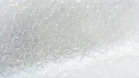 Закройте вверх по белым товарам предохранения от искривления воздушного пузыря Стоковое фото RF