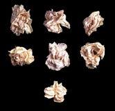 Закройте вверх по белой розе изолированной на черной предпосылке Стоковое Фото