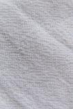 Закройте вверх по белой текстуре ткани Справочная информация Стоковое Изображение RF