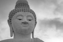 Закройте вверх по большой голове Будды Стоковая Фотография