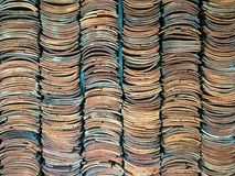 Закройте вверх по взгляду плиток глины Стоковые Фотографии RF