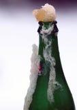 Закройте вверх по взгляду бутылки в льде Стоковые Фото