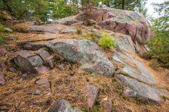 Закройте вверх по взгляду геологохимических структур на парке Killarney захолустном Стоковое фото RF