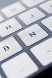 Закройте вверх по взгляду ключей клавиатуры ПК Стоковые Изображения