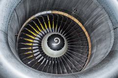 Закройте вверх по взгляду на турбине самолета части Стоковое Фото