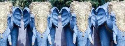 Закройте вверх по взгляду скульптуры слона, ECR, Ченнаи, Tamilnadu, Индии, 29-ое января 2017 Стоковое Изображение