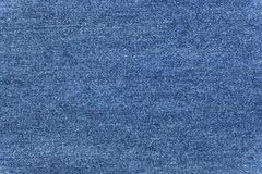 Закройте вверх по голубой текстуре демикотона Стоковое Изображение