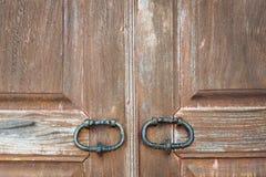 Закройте вверх по деревянной двери Стоковые Фотографии RF