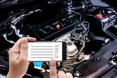 Закройте вверх по детали нового двигателя автомобиля мощный двигатель автомобиля Стоковое фото RF